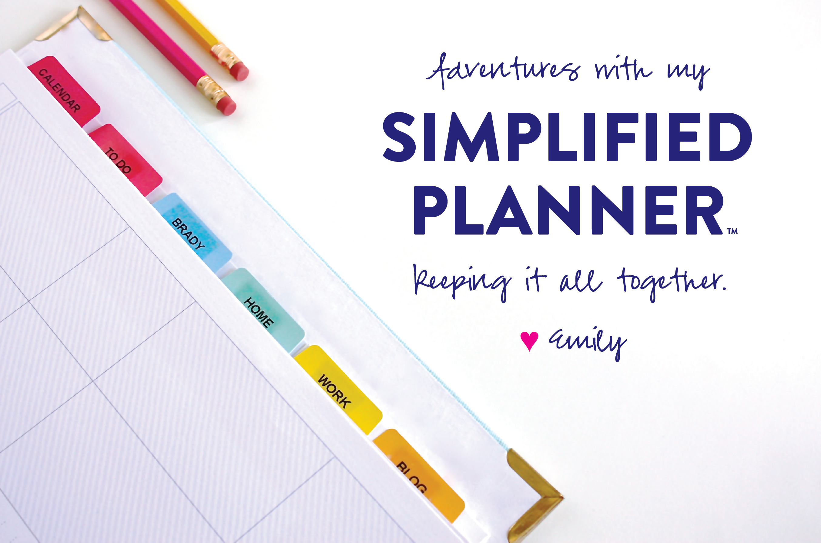 "graphic relating to Emily Ley Coupon Code named Having My Simplified Plannerâ""¢ Emily Ley"